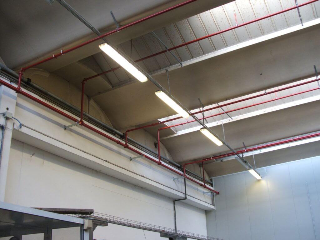Sprinkler impianto a copertura