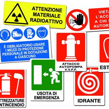 Cartelli segnalatori segnaletica di sicurezza